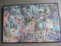 """Exposition peintures : En thème avec le programme culturel """"Manger Sain(t)?"""" : Tableau d'Eberhard Doser  """"Symphonie en Viane"""""""